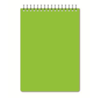 Блокнот Attache Bright colours A5 60 листов салатовый в клетку на спирали (148x215 мм)