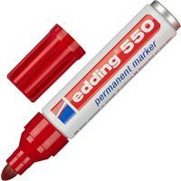 Маркер перманентный Edding 550/2 красный (толщина линии 3-4 мм) круглый наконечник
