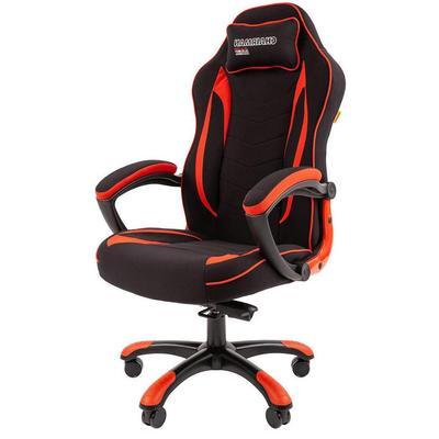 Кресло игровое Chairman game 28 красное/черное (ткань, пластик)