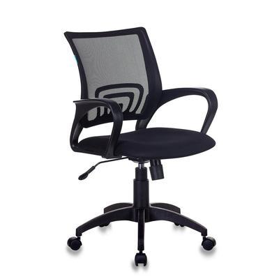 Кресло офисное Бюрократ CH-695N черное (сетка/ткань, пластик)