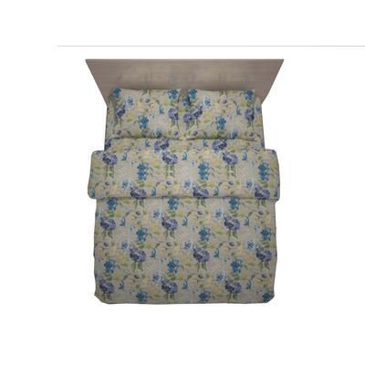 Постельное белье Belezza Capri голубое (1.5-спальное, полисатин)