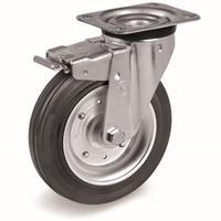Колесо для тележки поворотное Tellure Rota с тормозом 200 мм (53345)