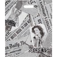 Пакет полиэтиленовый Газетный микс с вырубной ручкой 45х38 см (50 штук в упаковке)