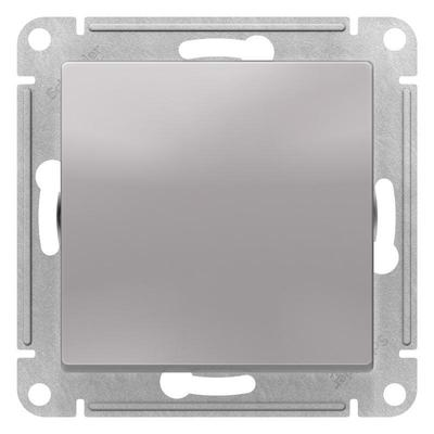 Выключатель одноклавишный Schneider AtlasDesign 10АХ серебристый (ATN000311)