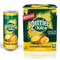 Напиток Perrier газированный с соком ананас-манго 0.25 л (4 штуки в упаковке)