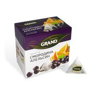 Чай Grand черный со смородиной и апельсином 20 пакетиков-пирамидок
