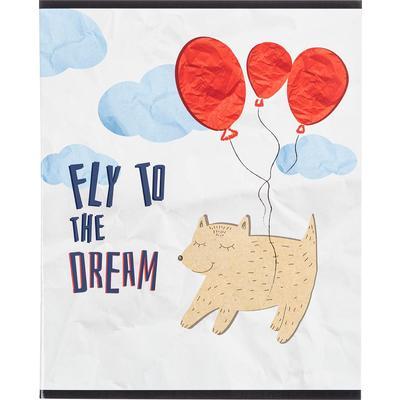 Тетрадь общая №1 School Paper Cat Fly А5 48 листов в клетку на скрепке
