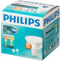 Лампа светодиодная Philips 5Вт GU5.3 спот 2700k теплый белый свет