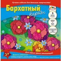 Картон цветной Апплика (А5, 5 листов, 5 цветов, бархатный)