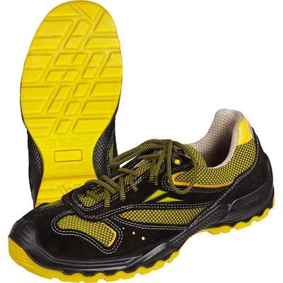 Кроссовки AirLight из натуральной кожи черные/желтые с алюминиевым подноском (размер 41)