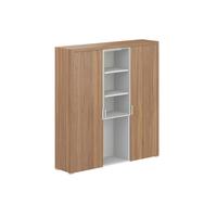 Шкаф Персона высокий комбинированный (орех лион/белый, 1833x450x2006 мм)