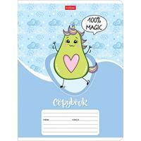 Тетрадь школьная Hatber Веселые авокадики  А5 12 листов в линейку (обложка в ассортименте)