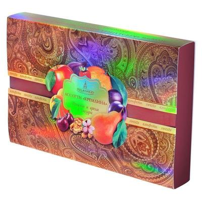 Шоколадные конфеты Кремлина фрукты и орехи в глазури ассорти 500 г