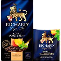 Чай Richard Royal Peach & Mint черный с персиком и мятой 25  пакетиков