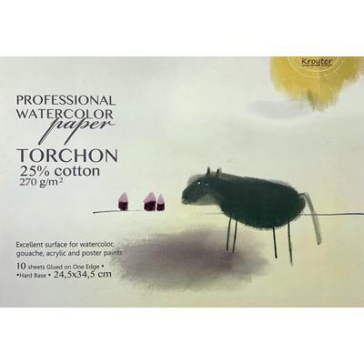 Альбом для акварели с добавлением хлопка Kroyter Torchon 245х345 мм 10 листов