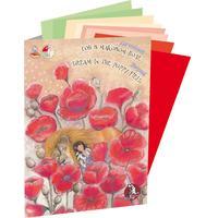 Папка для рисования пастелью Лилия Холдинг Страна чудес Сон в маковом поле (А4, 8 листов, 4 цвета)