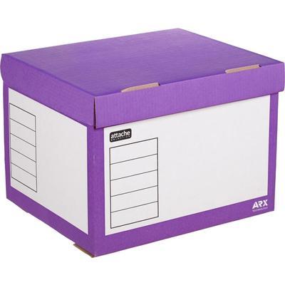 Короб архивный Attache Selection гофрокартон фиолетовый 410x350x300мм