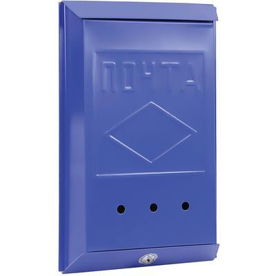 Ящик почтовый Onix ЯК 5 1-секционный металлический синий (260 x 70 x 390 мм)