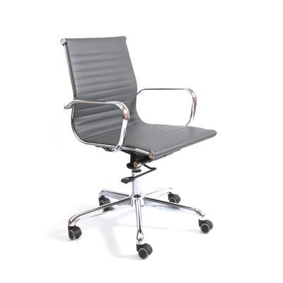 Кресло офисное Кайман Н XIPI-1311 серое (искусственная кожа/металл). Уценка_мебели