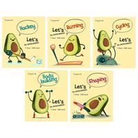 Тетрадь общая Проф-пресс Авокадо А5 48 листов в клетку на скрепке (обложка в ассортименте)