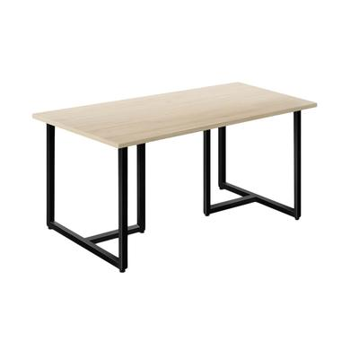 Стол обеденный Энги-2 (молочный дуб/черный, 1550х900х760 мм)