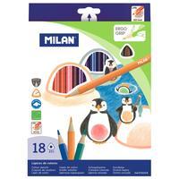 Карандаши цветные Milan 18 цветов трехгранные