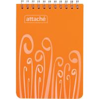 Блокнот Attache Fantasy А6 80 листов оранжевый в клетку на спирали (105х165 мм)