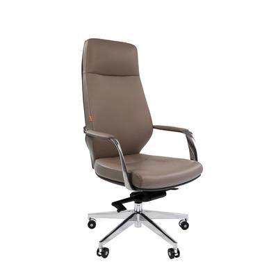 Кресло для руководителя Chairman 920 светло-серое/темно-серое (искусственная кожа/металл)