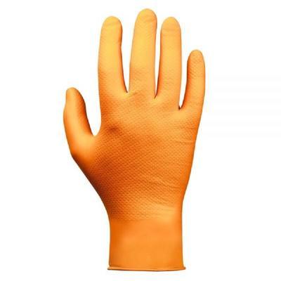 Перчатки одноразовые Jeta Safety Jsn Natrix нитриловые неопудренные оранжевые (размер XL, 50 штук/25 пар в упаковке)