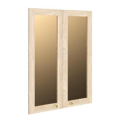 Двери стеклянные Raut RGFD42-2 в рамке (2 штуки, дуб девон/бронза, 880х26х1132 мм)