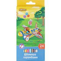 Карандаши цветные №1 School Шустрики 24 цвета шестигранные