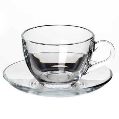 Сервиз чайный Pasabahce Бейзик на 6 персон стекло (6 чашек 215 мл, 6 блюдец 13.5 см)