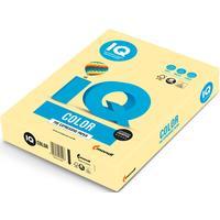 Бумага цветная для печати IQ Color желтая пастель YE23 (А4, 80 г/кв.м, 500 листов)