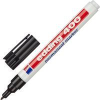 Маркер перманентный Edding E-400/1 черный (толщина линии 1 мм) круглый наконечник