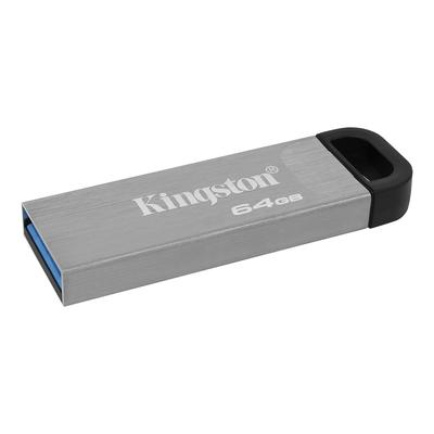 Флеш-память Kingston DataTraveler Kyson USB 3.2 серебристая DTKN/64GB