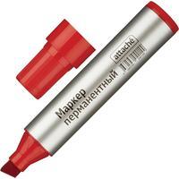 Маркер перманентный Attache красный (толщина линии 3-10 м) скошенный наконечник