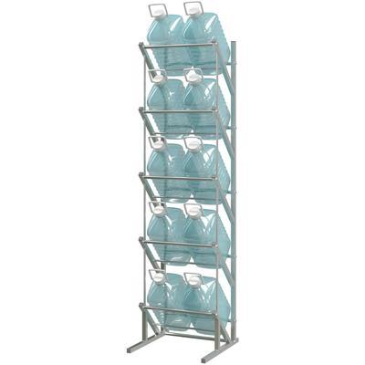 Cтеллаж для бутилированной воды Стилс-1 на 10 тар по 5/6л серый металлик