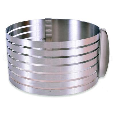 Кулинарная форма для слоеных блюд круглая регулируемая диаметр 16-20 см, высота 8.5 см (AN8-26)