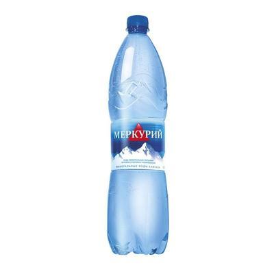 Вода минеральная Меркурий газированная 1.5 литра (6 штук в упаковке)