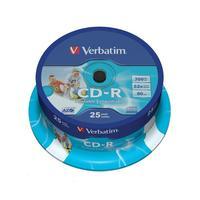 Диск CD-R Printable Verbatim 700 Mb 52x (25 штук в упаковке)