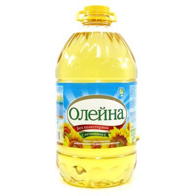 Масло подсолнечное Олейна рафинированное 5 л