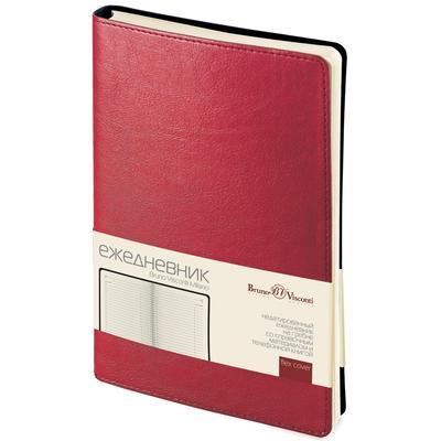 Ежедневник недатированный Bruno Visconti Milano искусственная кожа A5 172 листа красный (132х211 мм)