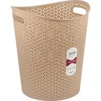 Корзина для мусора с ручками Svip Nature 13 л пластик бежевая (27.5х32 см)