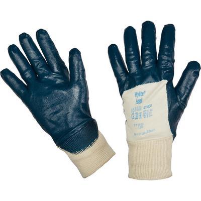 Перчатки рабочие из трикотажного полотна Ansell Хайлайт 47-400 с нитриловым покрытием (манжета резинка, 10, XL)