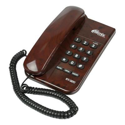 Телефон проводной Ritmix RT-320 coffee marble коричневый