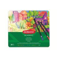 Карандаши цветные Derwent Academy Colour Pencil Tin 24 цвета