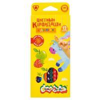 Карандаши цветные Каляка-Маляка 12 цветов трехгранные ароматизированные