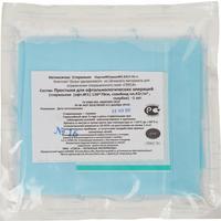 Простыня одноразовая Гекса стерильная для офтальмологии с круглым отворотом 120х70 см спанбонд (голубая, плотность 42 г)