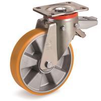 Колесо для тележки поворотное Tellure Rota с тормозом 150 мм (656604)