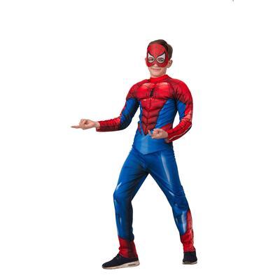 Костюм карнавальный Батик Человек Паук для мальчиков синий/красный  (размер 128-64)